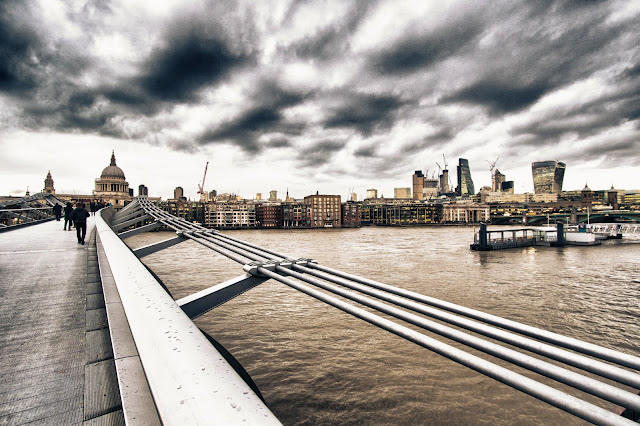 St. Paul Cathedral e Sky garden dal Millennium bridge-Londra
