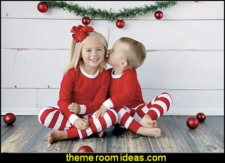 Christmas Pajamas for babies and toddlers in Red and White Stripe