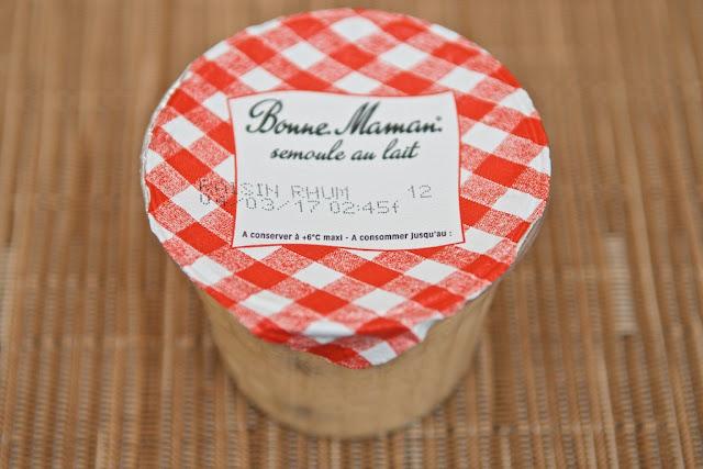Bonne Maman Semoule au Lait Raisins au Rhum - Dessert - Food - Rhum Raisin - France - Semoule au lait - Lait entier - Avis - Review