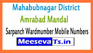 Amrabad Mandal Sarpanch Wardmumber Mobile Numbers List Part II Mahabubnagar District in Telangana State