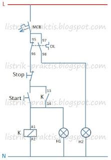 Diagram kontrol motor DOL