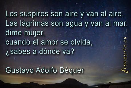 Frases para olvidarte - Gustavo Adolfo Bécquer