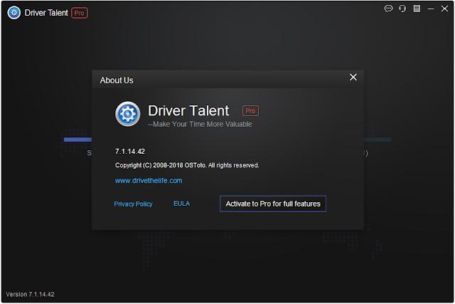 تفعيل برنامج تحديث تعريفات الكمبيوتر وحل مشاكل الويندوز Driver Talent Pro