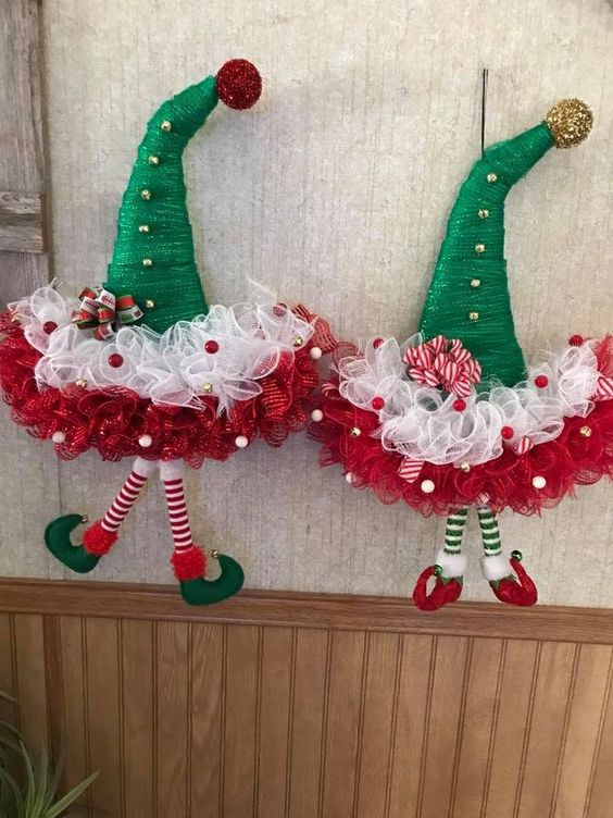 Haz Adornos Navidenos Faciles Para Decorar Tu Puerta En Esta Navidad Belleza Y Peinados