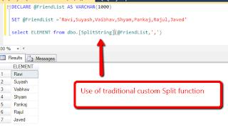 custom string split function
