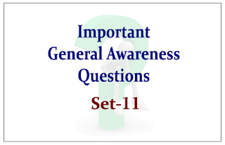 List of Expected General Awareness Questions for Upcoming IBPS RRB/PO and Insurance Exams 2015 Set-11