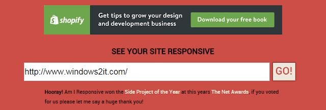 kiểm ra Responsive của một trang web