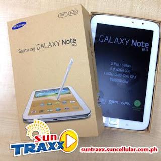 Samsung Galaxy Note 8.0 at SunTraxx