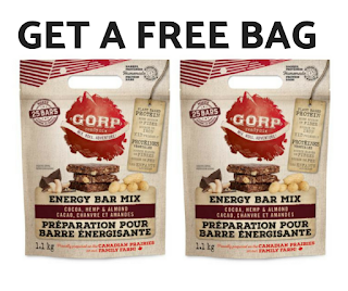 Get a FREE GORP Energy Bar Mix - $22 Value