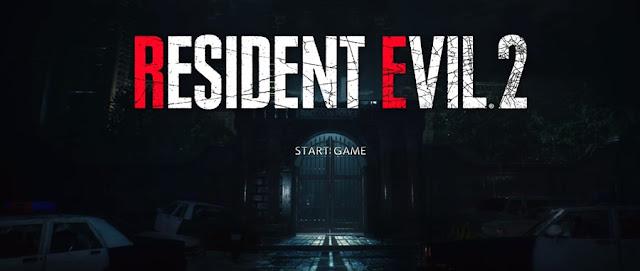 Resident Evil 2 Remake menú Inicio