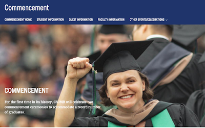 An example of a hero image on the commencement website.