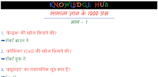 General Knowledge 1000 Question In Hindi PDF Download