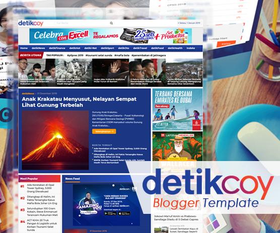 Template Blogger Mirip Detik (Detikcom)