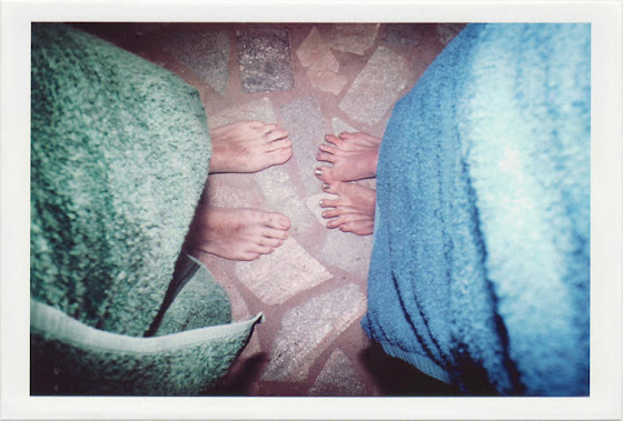 dirty photos - fumus - photo of a couples' toes and towels