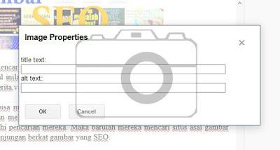 Mengoptimasi gambar biar seo dan muncul dipencarian google secara otomatis. Dengan menambahkan title tag atau deskripsi gambar maka gambar mampu muncul di google page one halaman pertama. Secara otomatis.