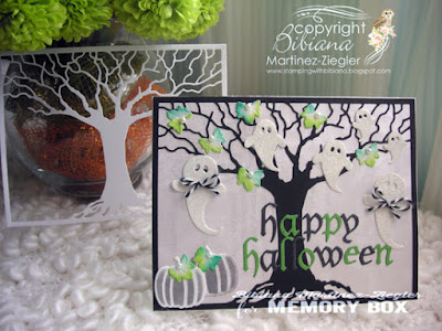 halloween oak ghosts card