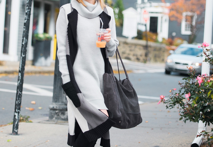 Garnet Hill Cowl Neck Cocoon Sweater Dress