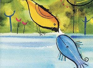 Resultado de imagem para o pássaro, o peixe e o canguru