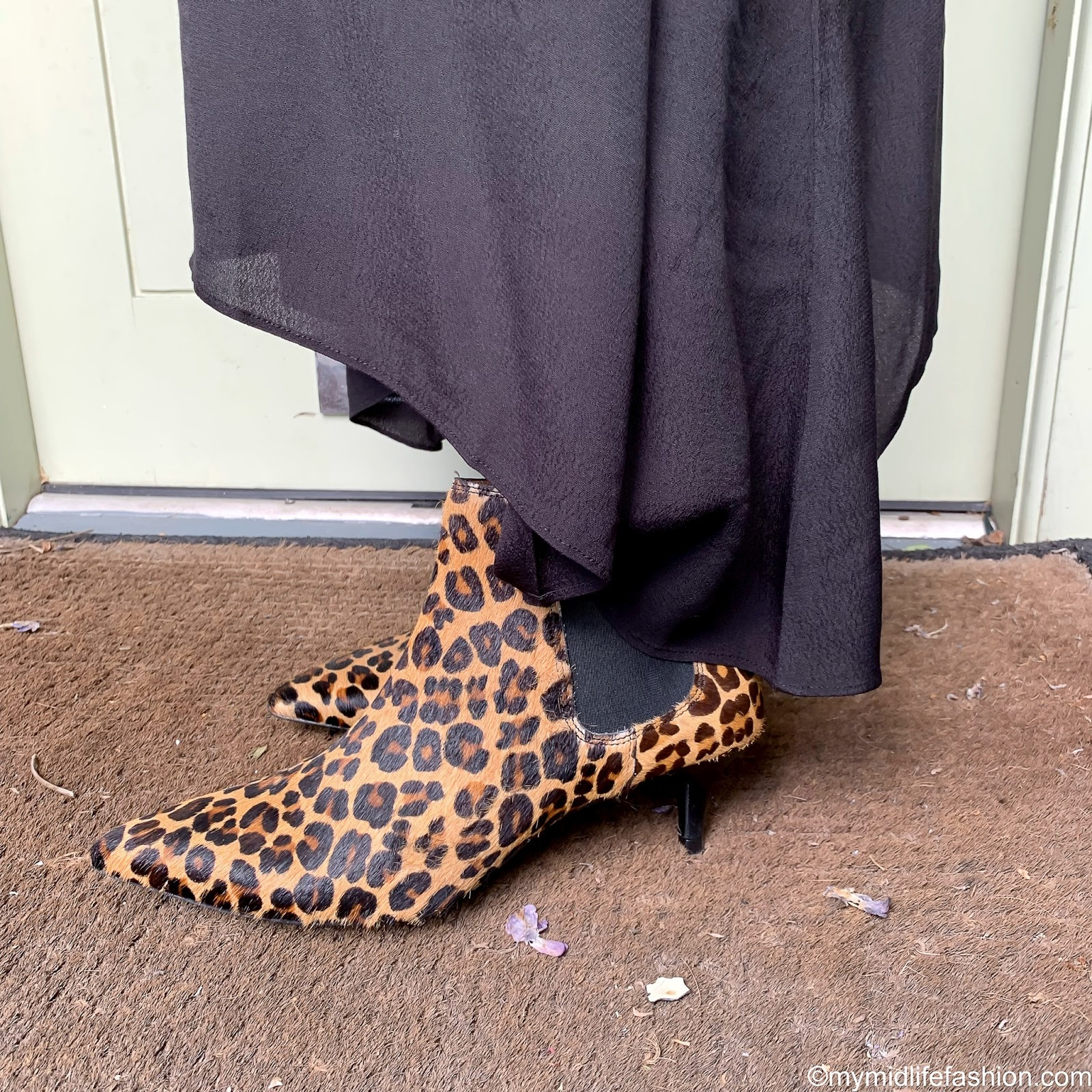 my midlife fashion, Cabi clothing, Cabi clothing expedition jacket, Cabi clothing snap blouse, Cabi clothing cruise skirt, hush kitten heel leopard print ankle boots, app leopard print clutch