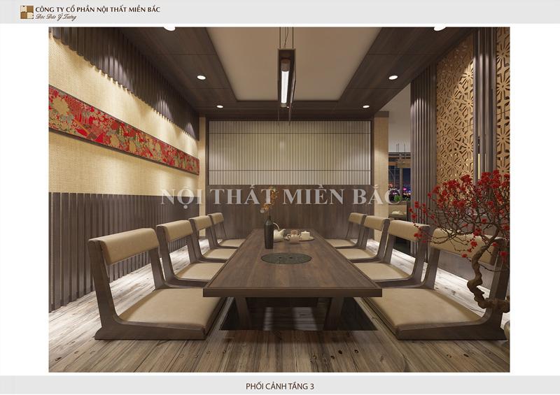 Thiết kế nhà hàng nhật theo yêu cầu mang đậm nét kiến trúc Nhật Bản