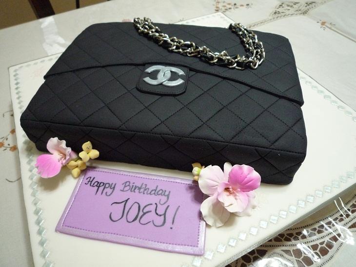 GG Home Biz Cakes   Wedding Cakes  Black Chanel Handbag Cake ordered ... 78c5cd1489d1e