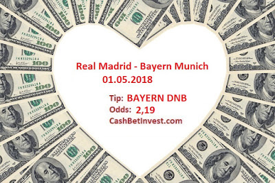 Real Madrid - Bayern Munich 01.05.2018 - Cash Bet Invest