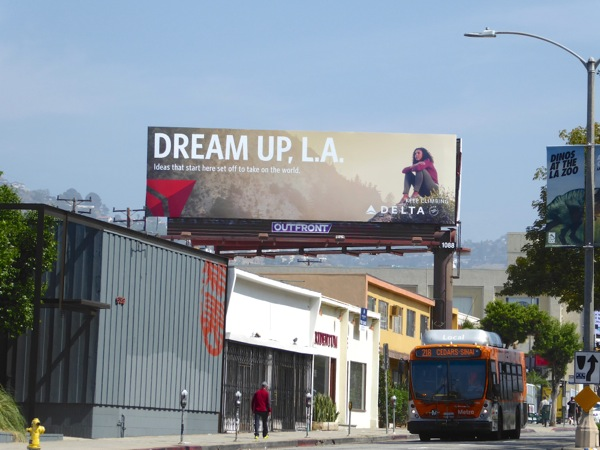Dream up LA Delta billboard