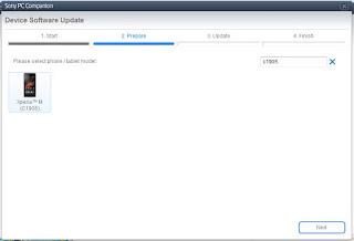 Cara Gampang Flash atau update firmware Sony Xperia M C1905 2