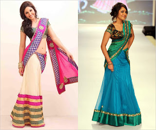 Traditional-indian-bridal-half-saree-designs-for-weddings-7