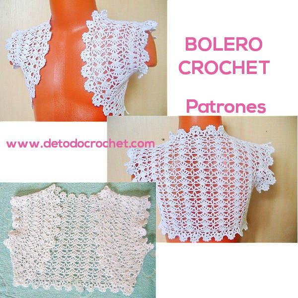 Boleros Crochet Fáciles de Tejer / 3 patrones | Todo crochet