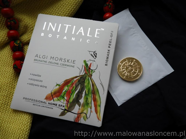 Algi morskie - biomask peel-off ~ Initiale Botanica ~ Nature Line