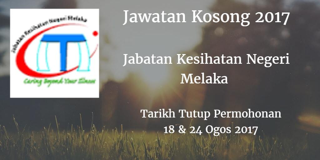 Jawatan Kosong JKN Melaka 18 & 24 Ogos 2017