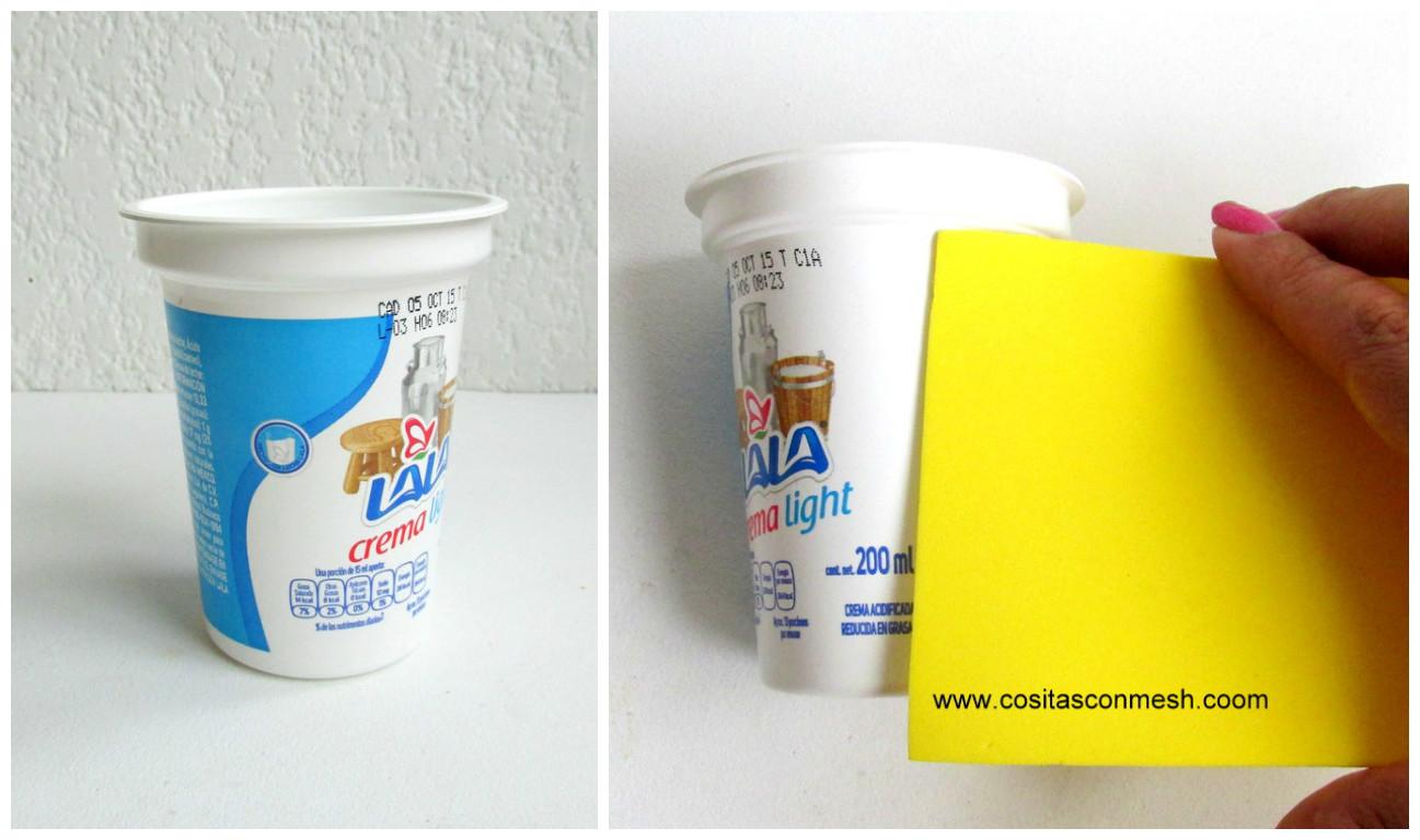 Dulceros de toy story para d a del ni o reciclando vasos - Vasos para yogurt ...