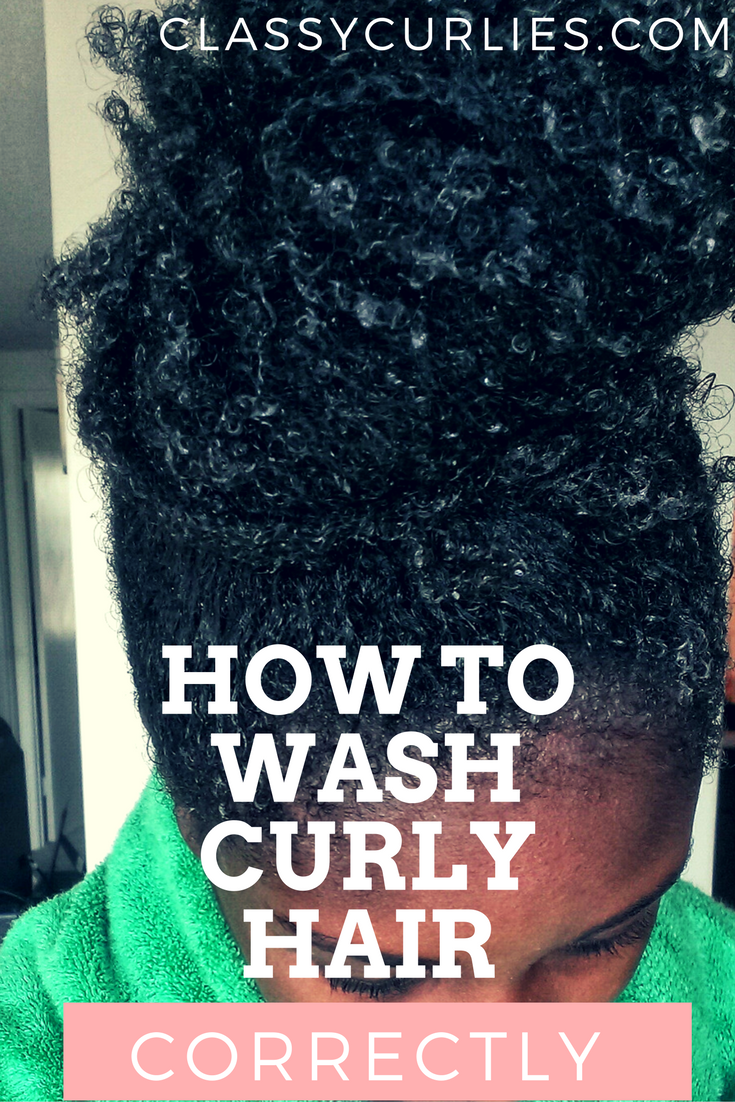 How to wash curly hair correctly - ClassyCurlies