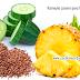 Remedio casero para una barriga plana de piña, linaza y pepino