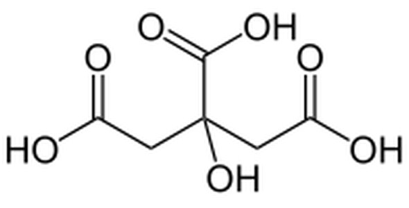 Rumus Kimia Asam Sitrat