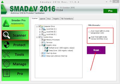 Cara Scan Virus di Komputer Menggunakan Smadav 12