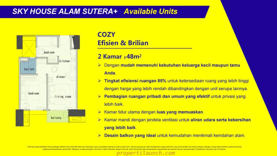 Tipe 2BR Apartment Sky House Alam Sutera