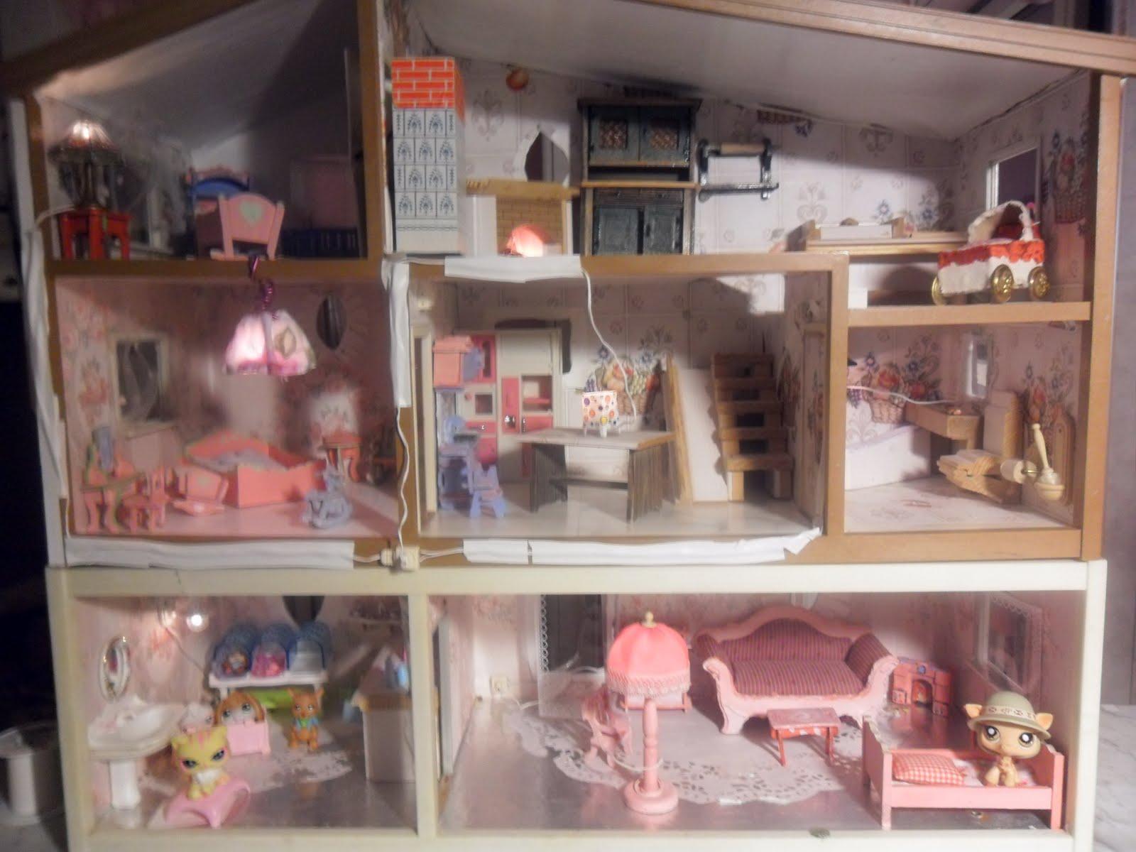 Puppenhaus Kuche Basteln Barbie Haus Selber Bauen Aus Karton Mobel