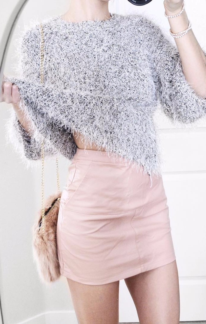furry love: spring outfit idea