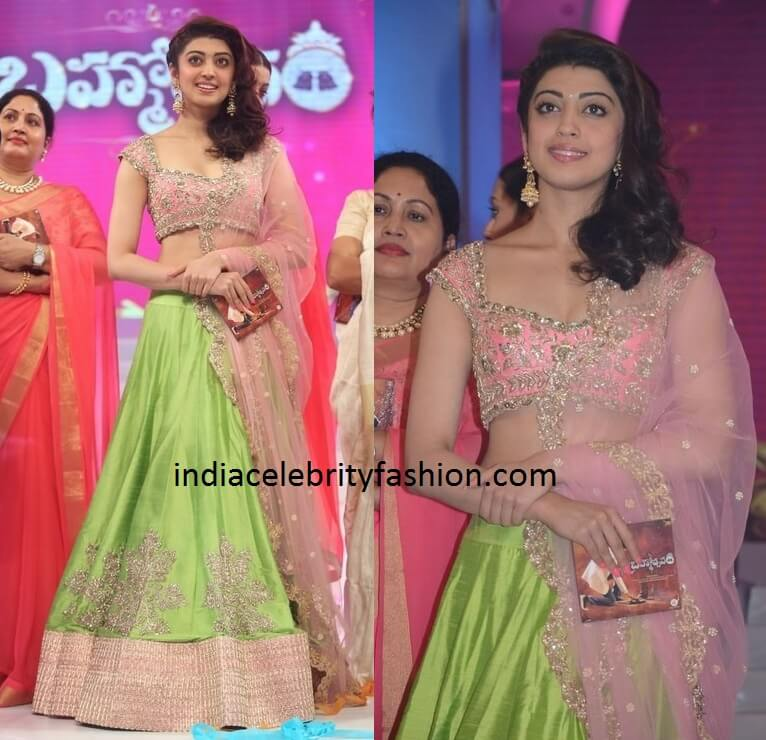 Pranitha Subhash in Anushree Reddy Lehenga