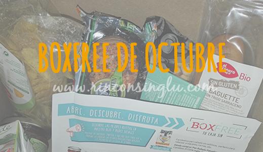 boxfree sin gluten de octubre