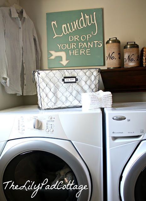 laundry room sign tutorial