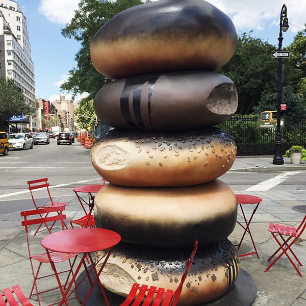 Giant bagel public art