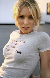 Kristen Bell 'college girls have all the fun' sexy t-shirt
