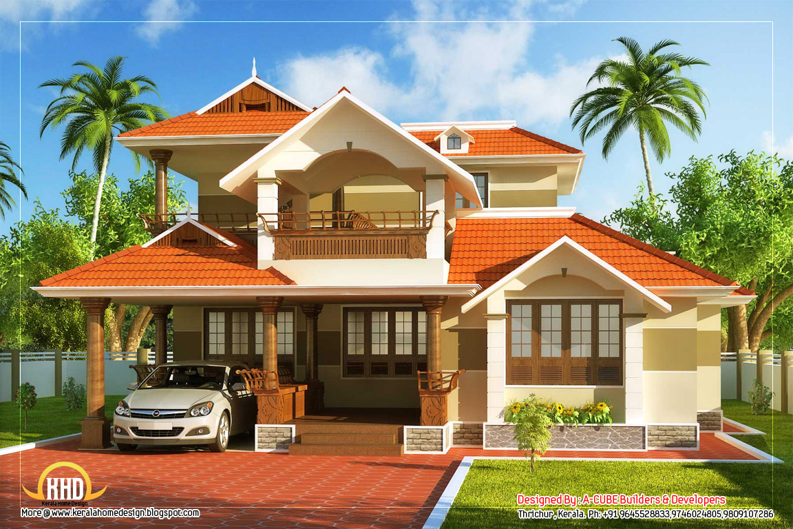 Kerala style traditional house 2000 sq ft kerala for Conventional house style