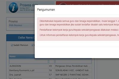 Guru Tak Bisa Akses Info GTK Jika Tak Terdaftar di SIMPKB