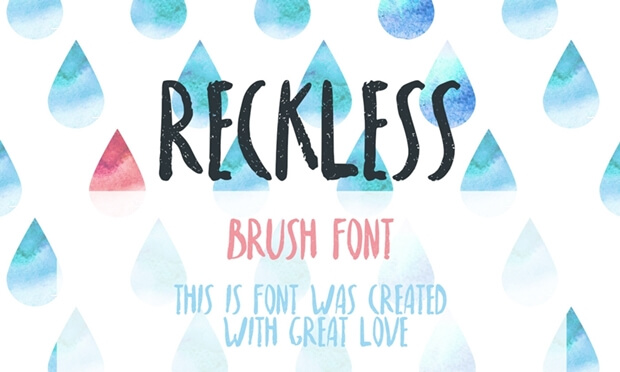 Reckless_free font