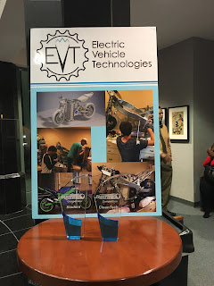 Electric Vehicle Technologies won trophies for best student pitch and Clean Tech at the fast pitch contest
