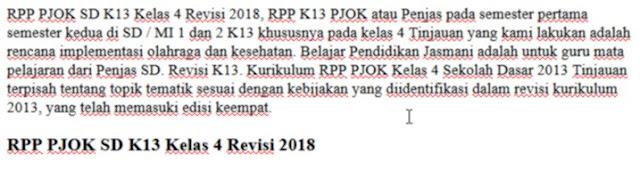 RPP PJOK SD K13 Kelas 4 Revisi 2018